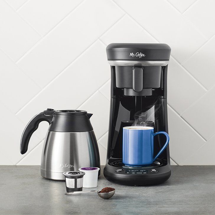 combination coffee maker single cup thermal carafe with pods