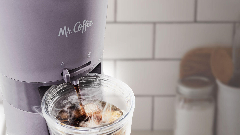 iced coffee maker dispensing coffee